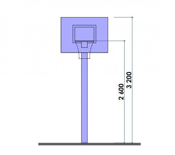 Баскетбольный щит с кольцом для улицы своими руками